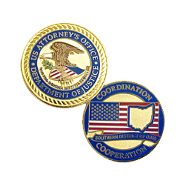 US Attorney's Office Southern Ohio Challenge Coin!