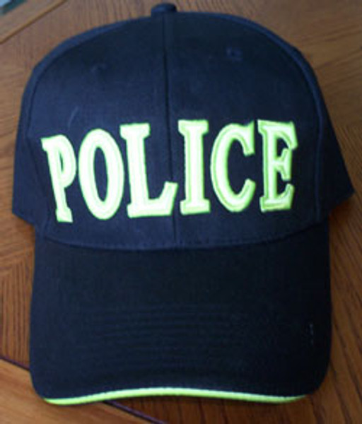 POLICE Navy Blue Hat with Reflective Lettering!