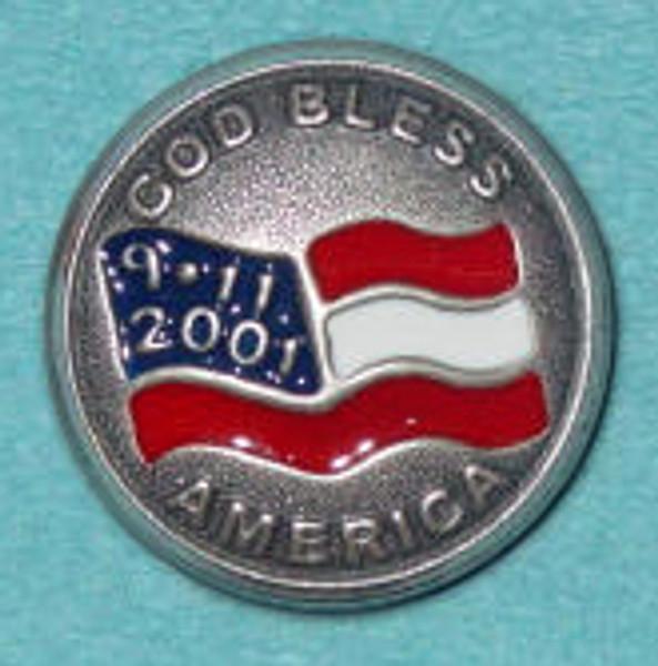 "World Trade Center Lapel Pin ""God Bless America"""