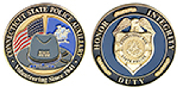Connecticut State Police Auxiliary Trooper Coin