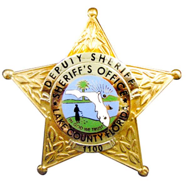Lake County Florida Deputy Sheriff 5-Star Badge