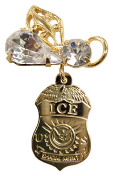 Department of Homeland Security ICE Swarovski Angel Pin