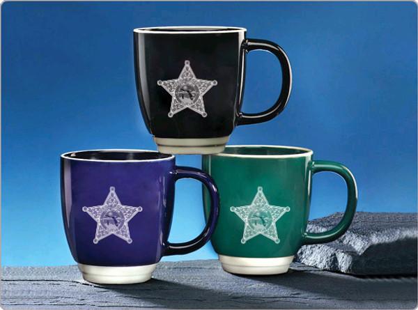 Sunrise Mugs Boxed - Etched Ceramic Mugs (14 oz)