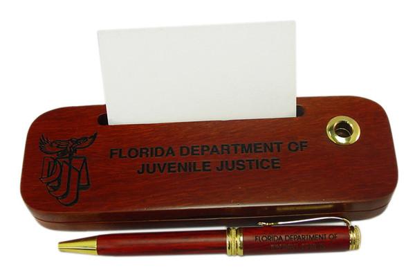 Florida Department of Juvenile Justice Timber Pen Set