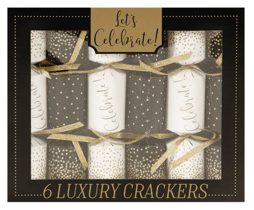 The Gift Wrap Company Party Crackers, Celebrate, Pack of 6
