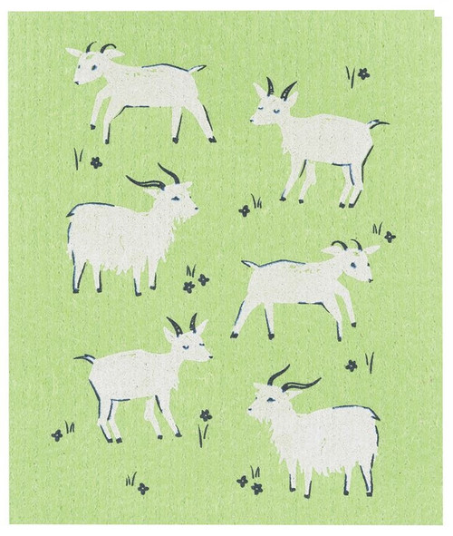 Now Designs Goats Swedish Dishcloth