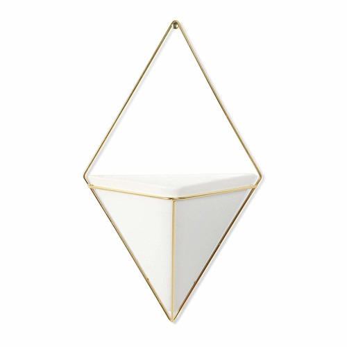 Umbra Trigg Hanging Planter Vase & Geometric Wall Decor Container (470752-524)