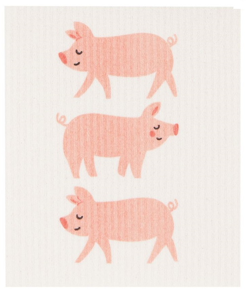 Now Designs Penny Pig Swedish Dishcloth