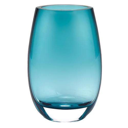 "Badash 7.5"" Crescendo Peacock Blue Vase (K944)"