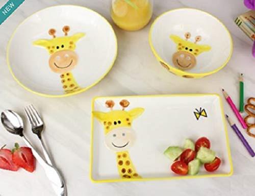 Pampa Bay Porcelain Dinnerware Set for Kids, Giraffe