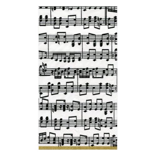 Caspari Paper Guest Towel Napkins, Musica (11020G)