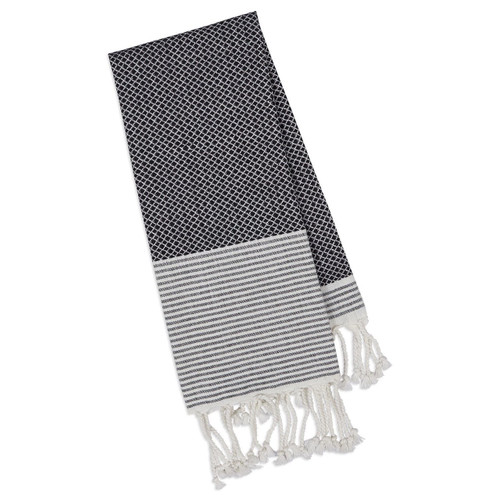 Design Imports Black Diamond Fouta Towel