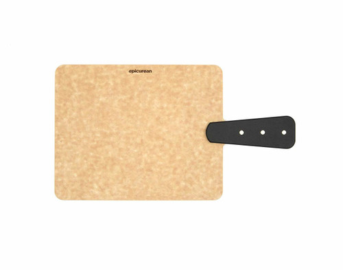 "Epicurean Riveted Handle Board, Natural, 9"" x 7.5"""