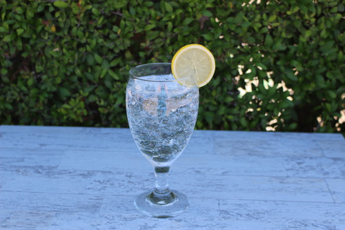 Just Dough It Replica Glass of Ice Water with Lemon