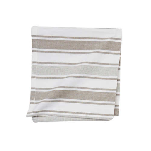 C&F Chandler Stripe Clay Napkin, Set of 4