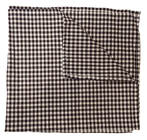 "C&F - 18"" x 18"" Black and White Checkered Napkin, Set of 4"