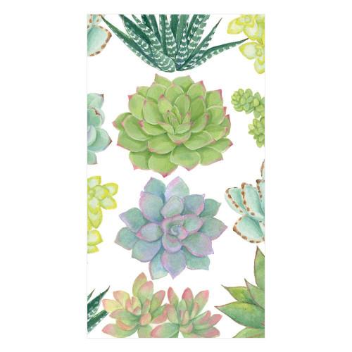 Caspari Paper Guest Towel Napkins, Succulents (15140G)