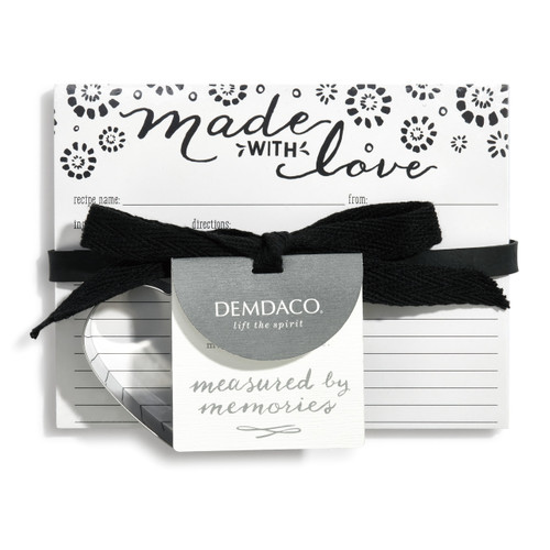 "Demdaco ""Made with Love"" Recipe Card Set"