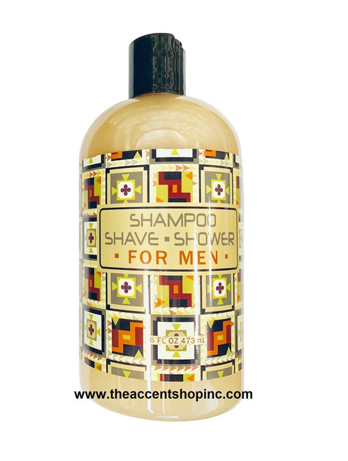 Greenwich Bay Trading Company Shampoo/Shave/Shower for Men, 16oz