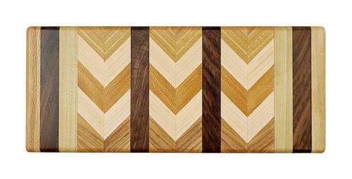 Wooden Rectangular Cutting Board, Herringbone