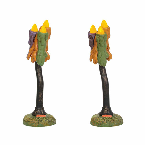Department 56 Accessories for Village Collections Halloween Wicked Wax Lamps Figurines