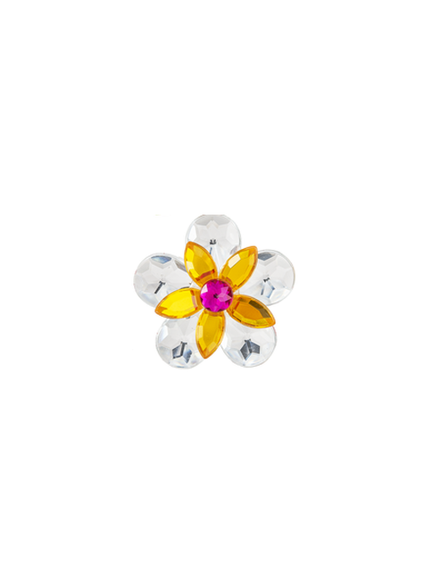 Ganz Garden Jewel Magnet  - White/Yellow Flower