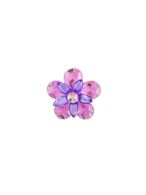 Ganz Garden Jewel Magnet - Purple/Pink Flower