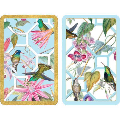 Caspari Bridge Playing Cards, Hummingbird Trellis, 2 Decks (PC138)