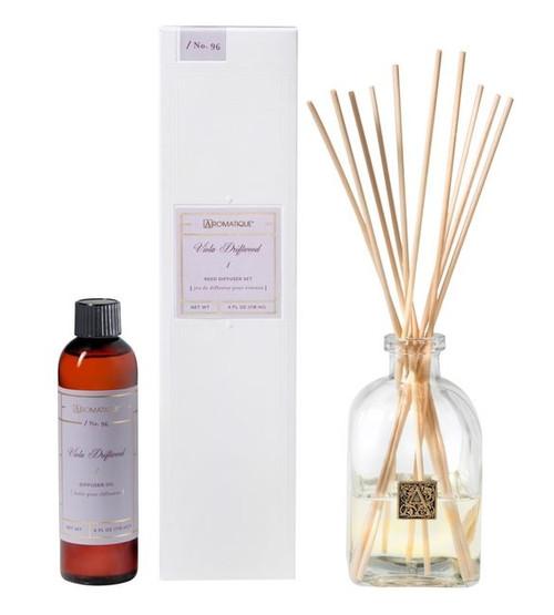 Aromatique Viola Driftwood Diffuser Set