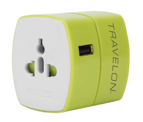 Travelon Worldwide Adapter with Single USB charger