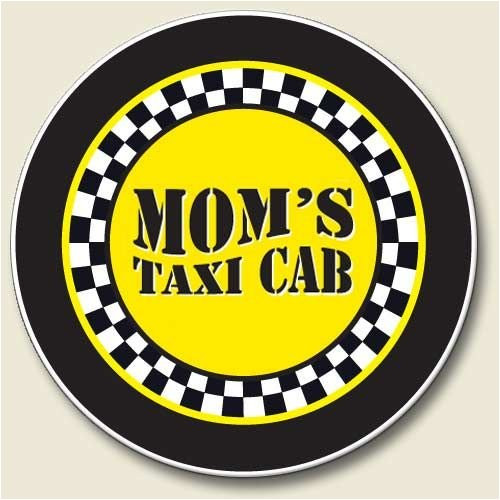 Highland Graphics Auto Coaster, Mom's Taxi Cab