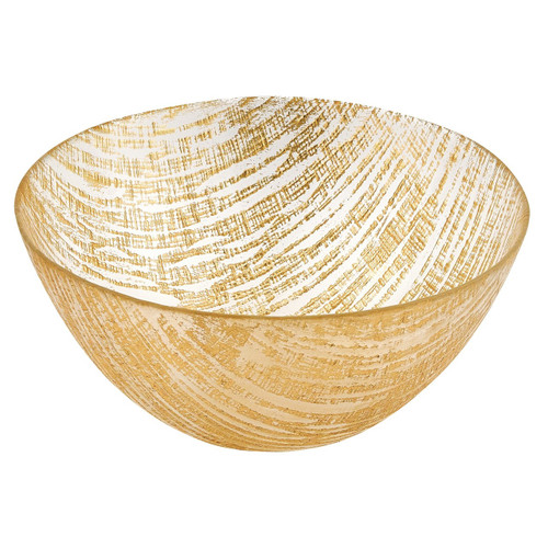 "Badash 11"" Gold Lines Handcrafted Glass Bowl (KM710G)"