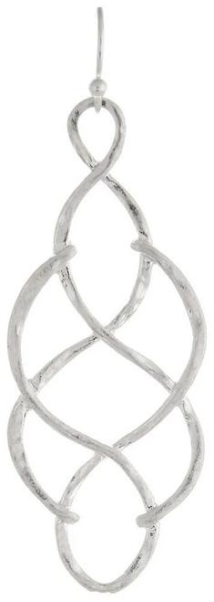 Rain Open Looped Braid Earrings