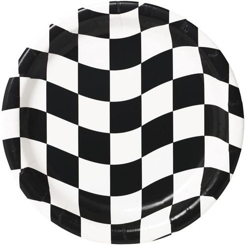 CEG Paper Dinner Plates, Black & White Check (429944)