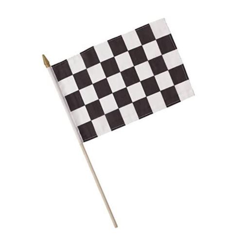CEG Cloth Flag, Black & White Check (040202)