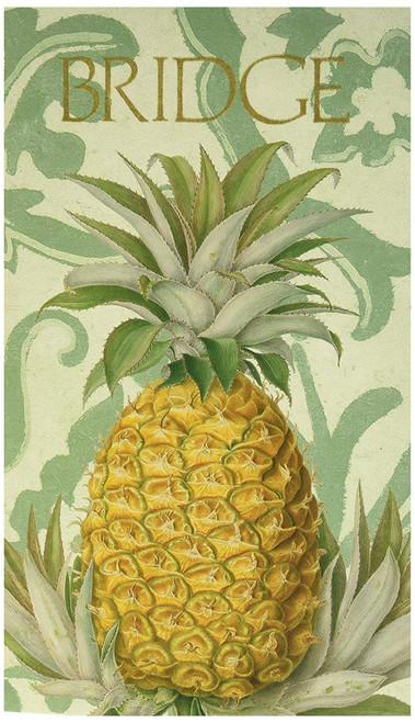 Caspari Bridge Score Pad, Royal Pineapple (SP114)