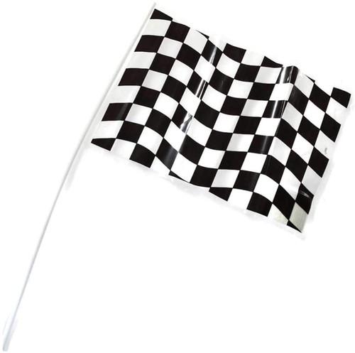 CEG Small Plastic Flag, Black & White Check (080046810)