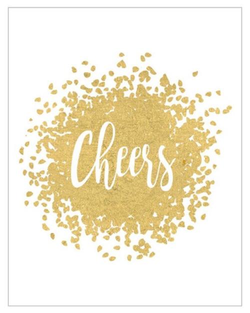 Caspari Gift Enclosure Cards, Cheers (46DENC)
