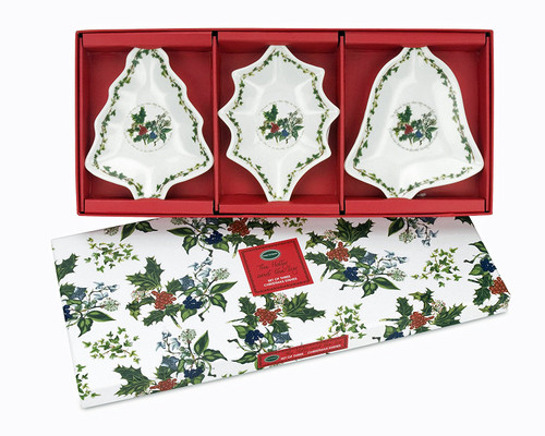 Portmeirion Holly & Ivy Christmas Dishes, Set of 3 Assorted