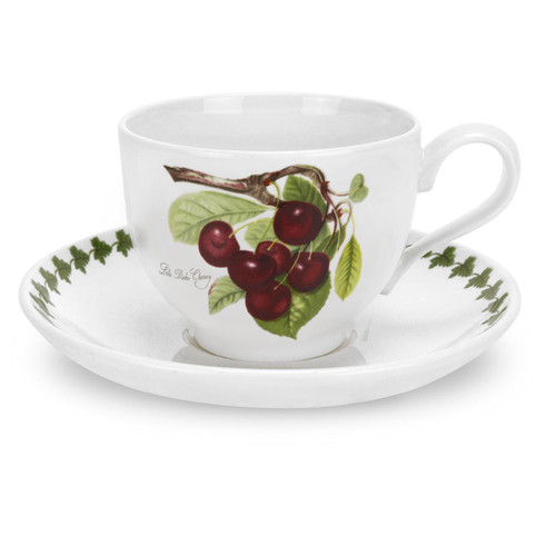 Portmeirion Pomona Traditional Breakfast Cup & Saucer, Cherry