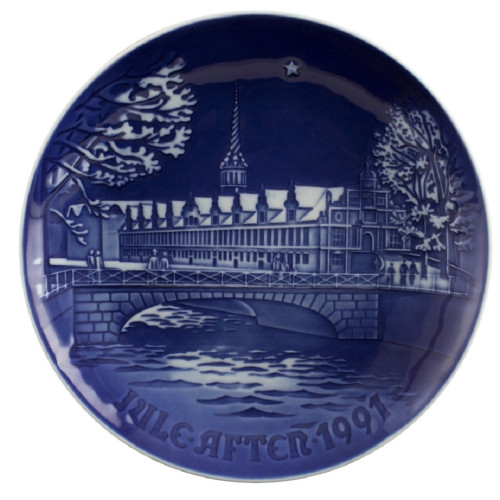Bing & Grondahl 1991 Christmas Plate - Stock Exchange