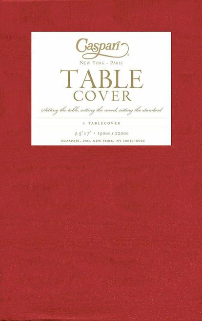 Caspari Paper Table Cover, Moiré Red (971TCP)