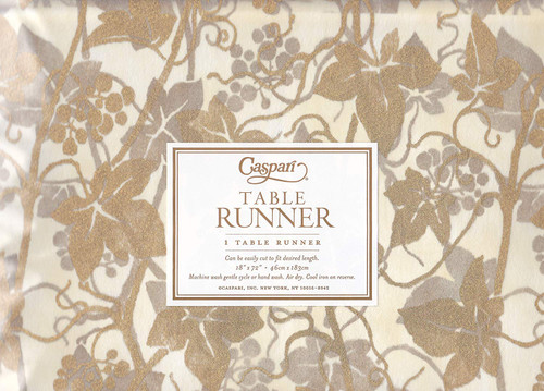 Caspari Table Runner, Veneto Ivory (7970TR)