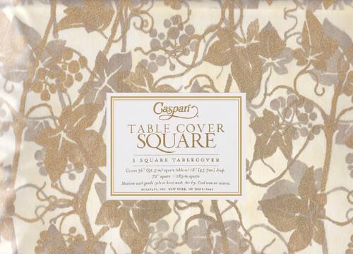 Caspari Square Table Cover, Veneto Ivory (7970TPS)