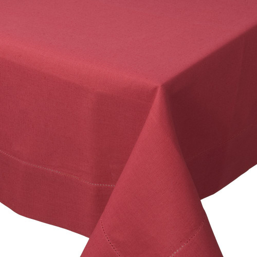 """Now Designs Hemstitch Tablecloth, 60""""x 108"""", Red Chili"""