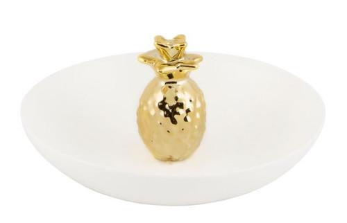 Sass & Belle Trinket Dish, Gold Pineapple