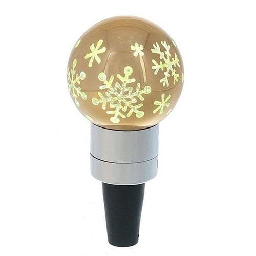 Midwest CBK Bottle Stopper with Snowflake Decoration - Gold
