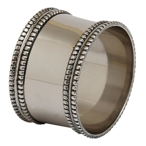 Design Imports India Silver Band Napkin Ring