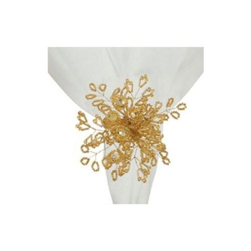 C&F Enterprises Napkin Ring, Gold Beads