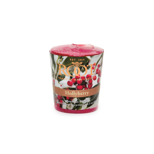 Root 20hr Votive Candles, Hollyberry